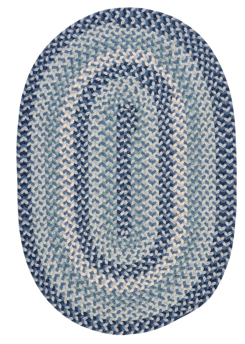 Boston Common Capeside Blue Outdoor Braided Oval Rugs