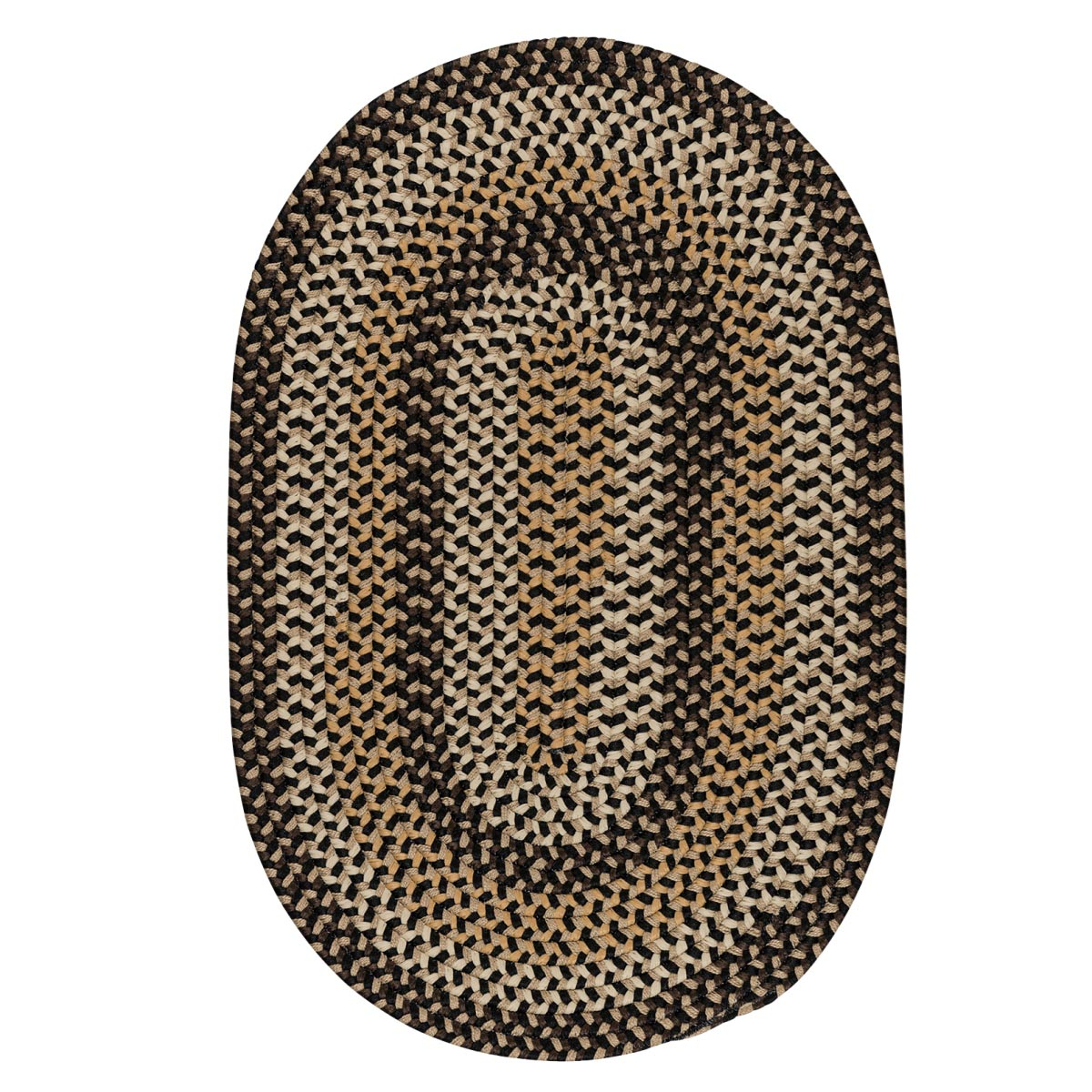 Brook Farm Blackberry Outdoor Braided Oval Rugs