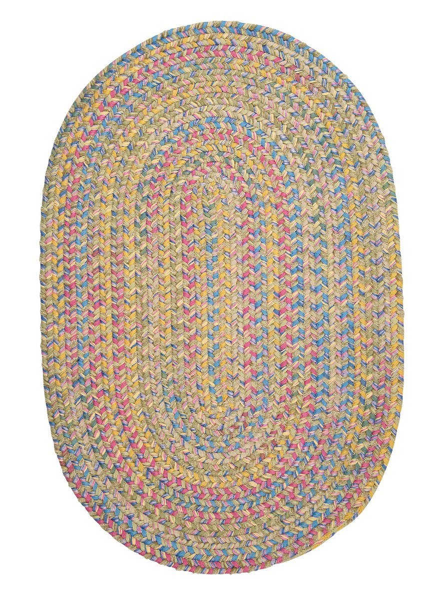 Botanical Isle Kiwi Outdoor Braided Oval Rugs