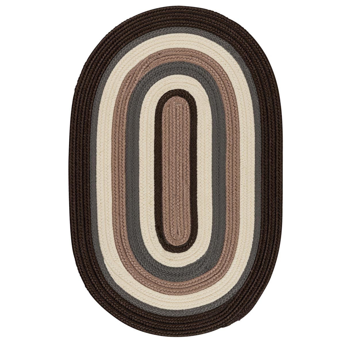 Brooklyn Brownstone Outdoor Braided Oval Rugs