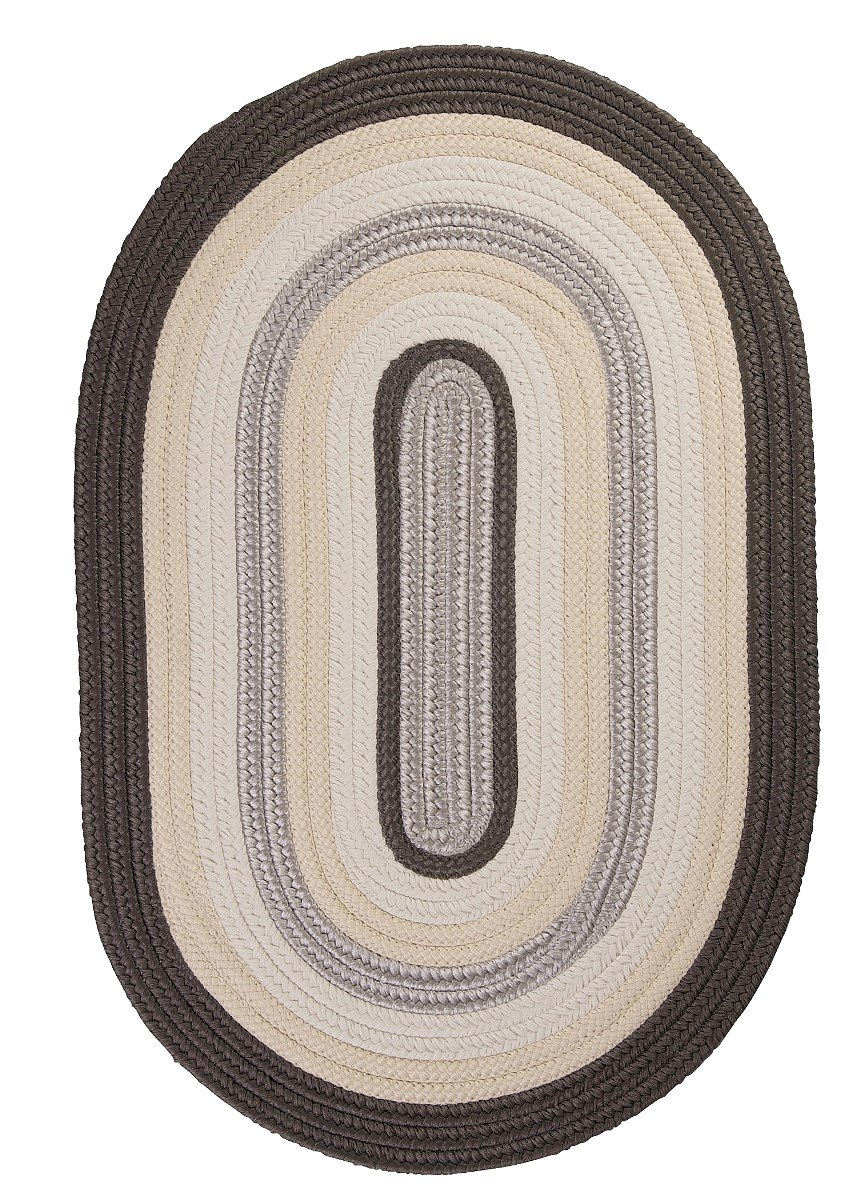 Brooklyn Slate Outdoor Braided Oval Rugs