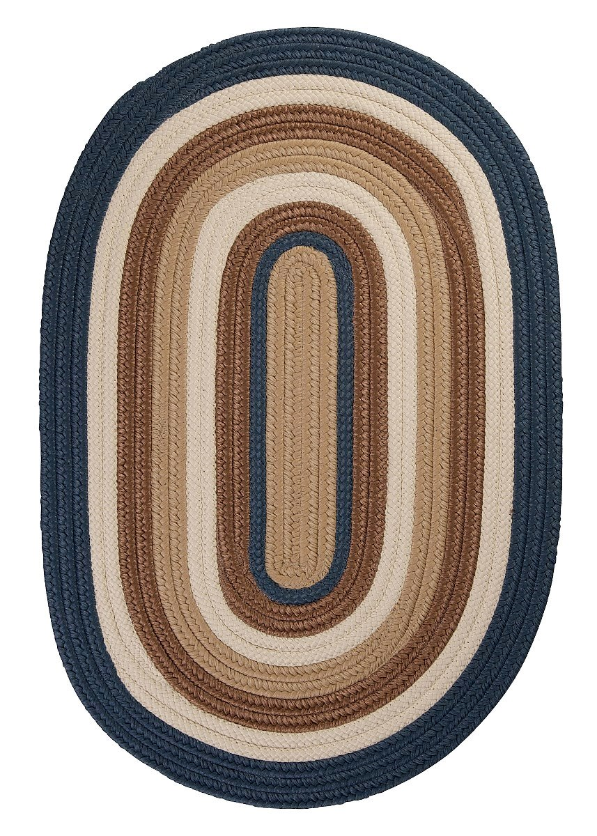 Brooklyn Blue Haze Outdoor Braided Oval Rugs