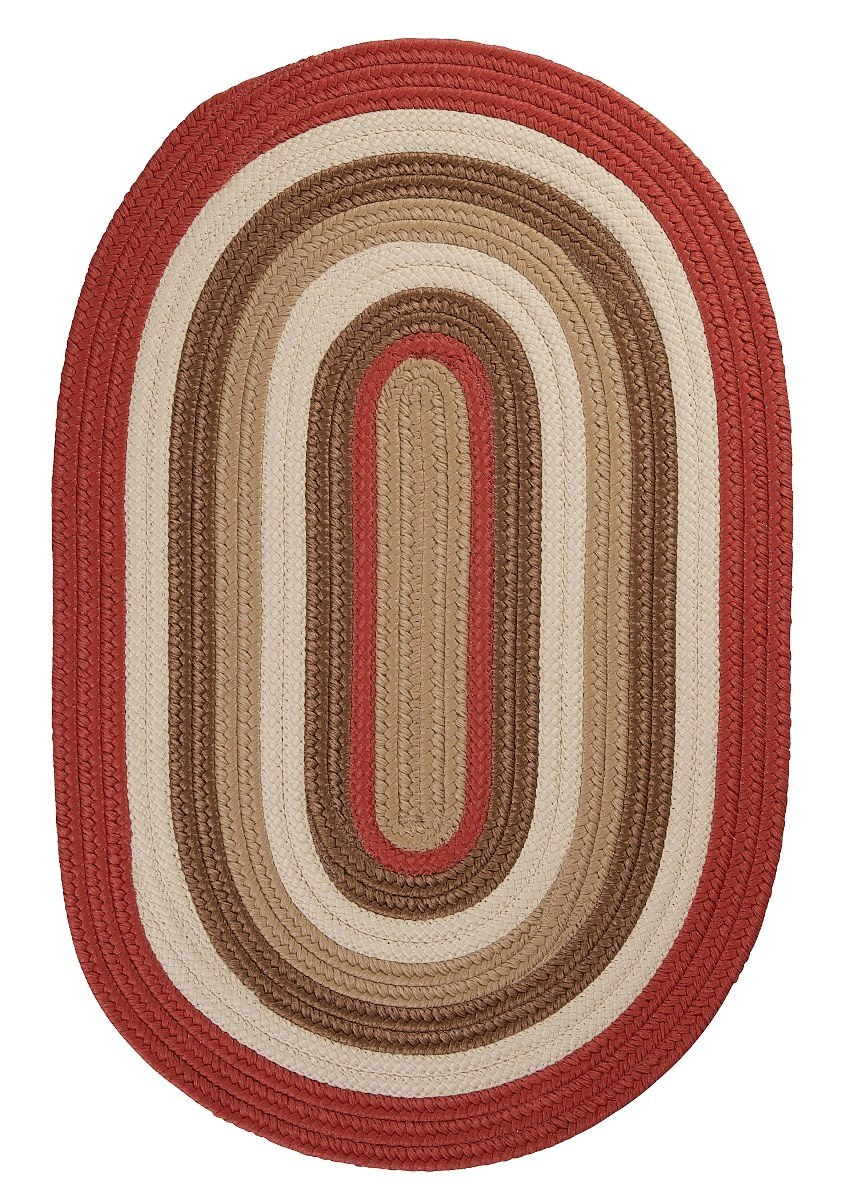 Brooklyn Terracotta Outdoor Braided Oval Rugs