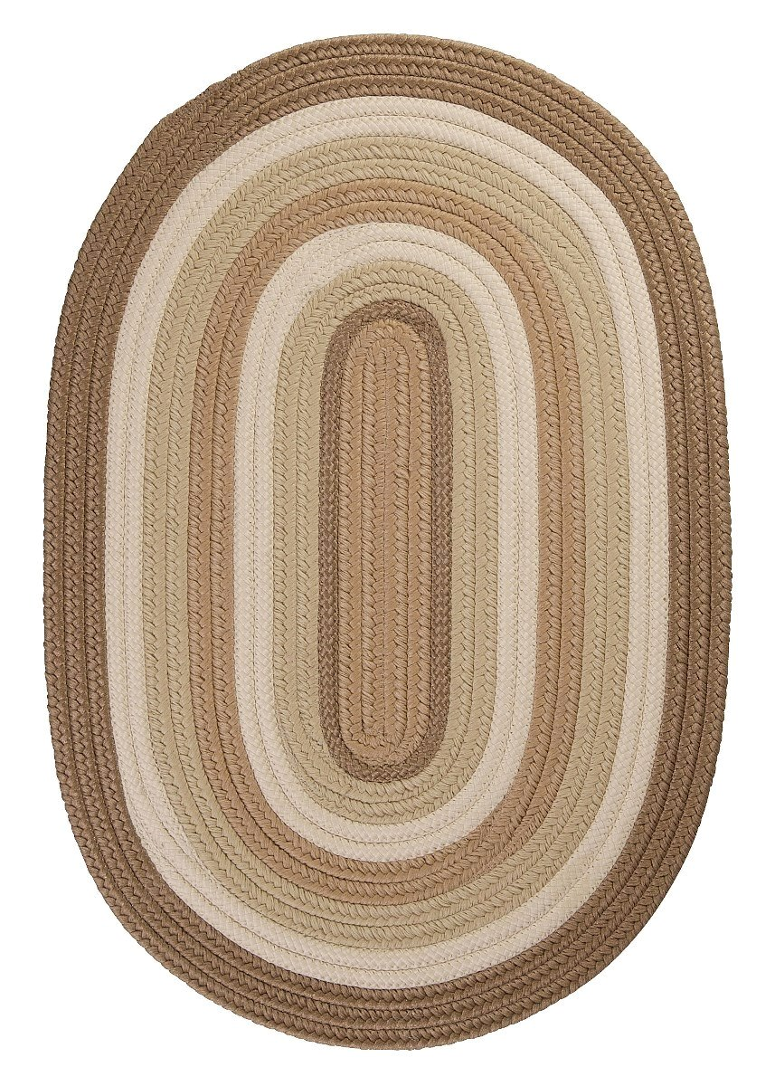 Brooklyn Natural Outdoor Braided Oval Rugs