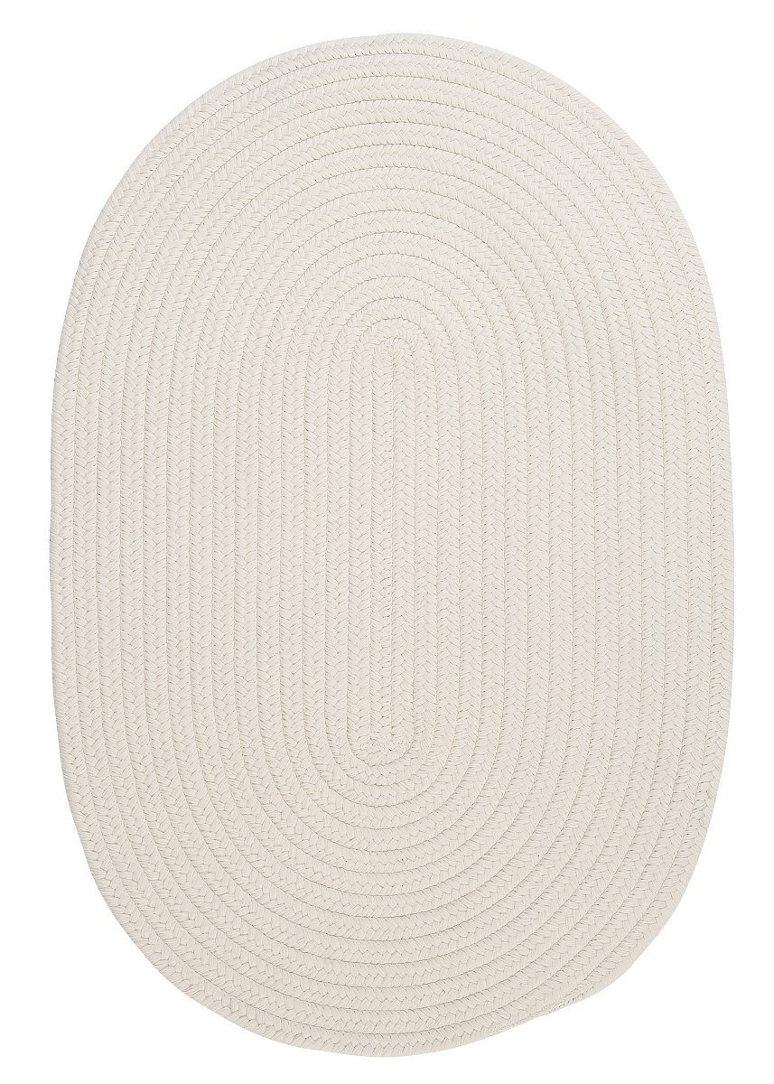 Boca Raton White Outdoor Braided Oval Rugs