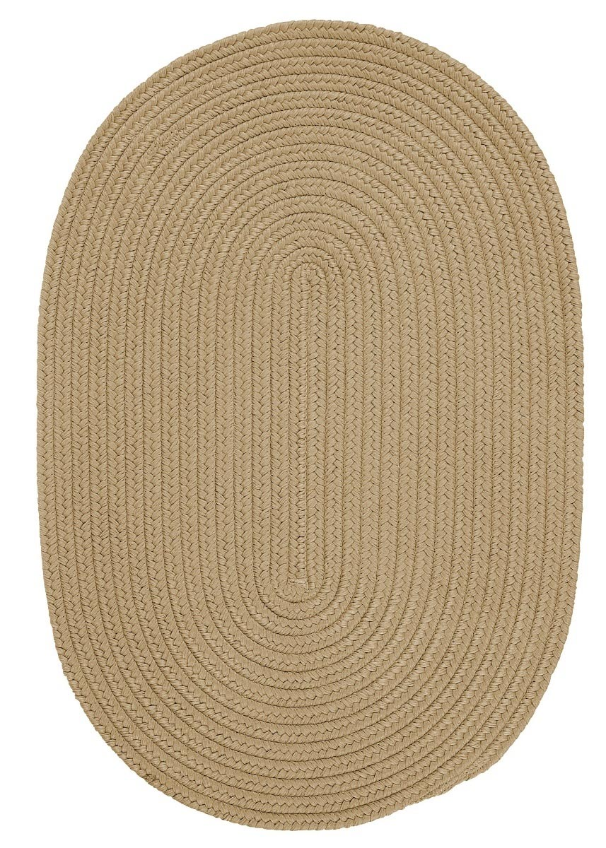 Boca Raton Cuban Sand Outdoor Braided Oval Rugs