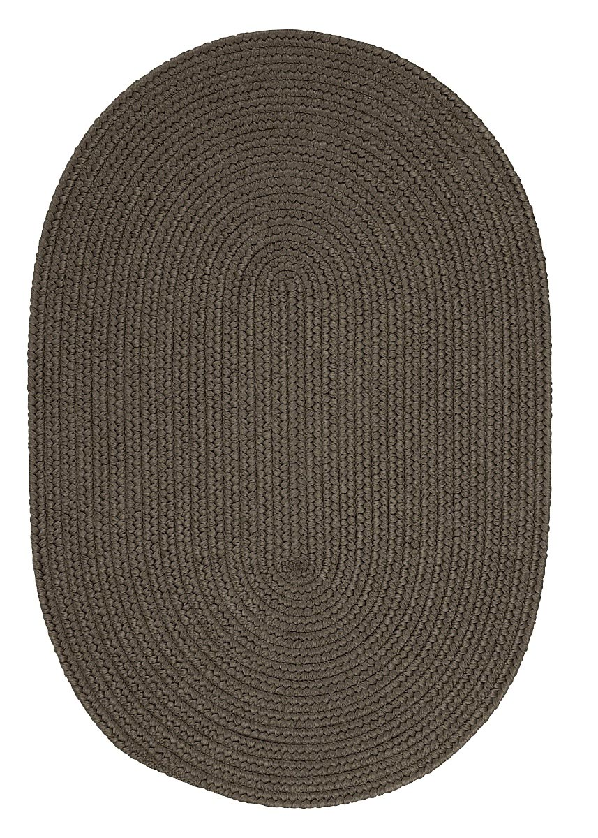 Boca Raton Gray Outdoor Braided Oval Rugs
