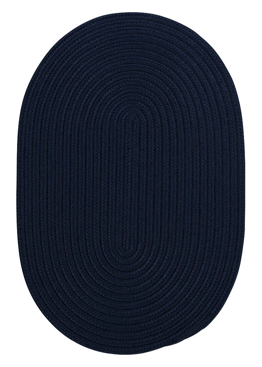 Boca Raton Navy Outdoor Braided Oval Rugs
