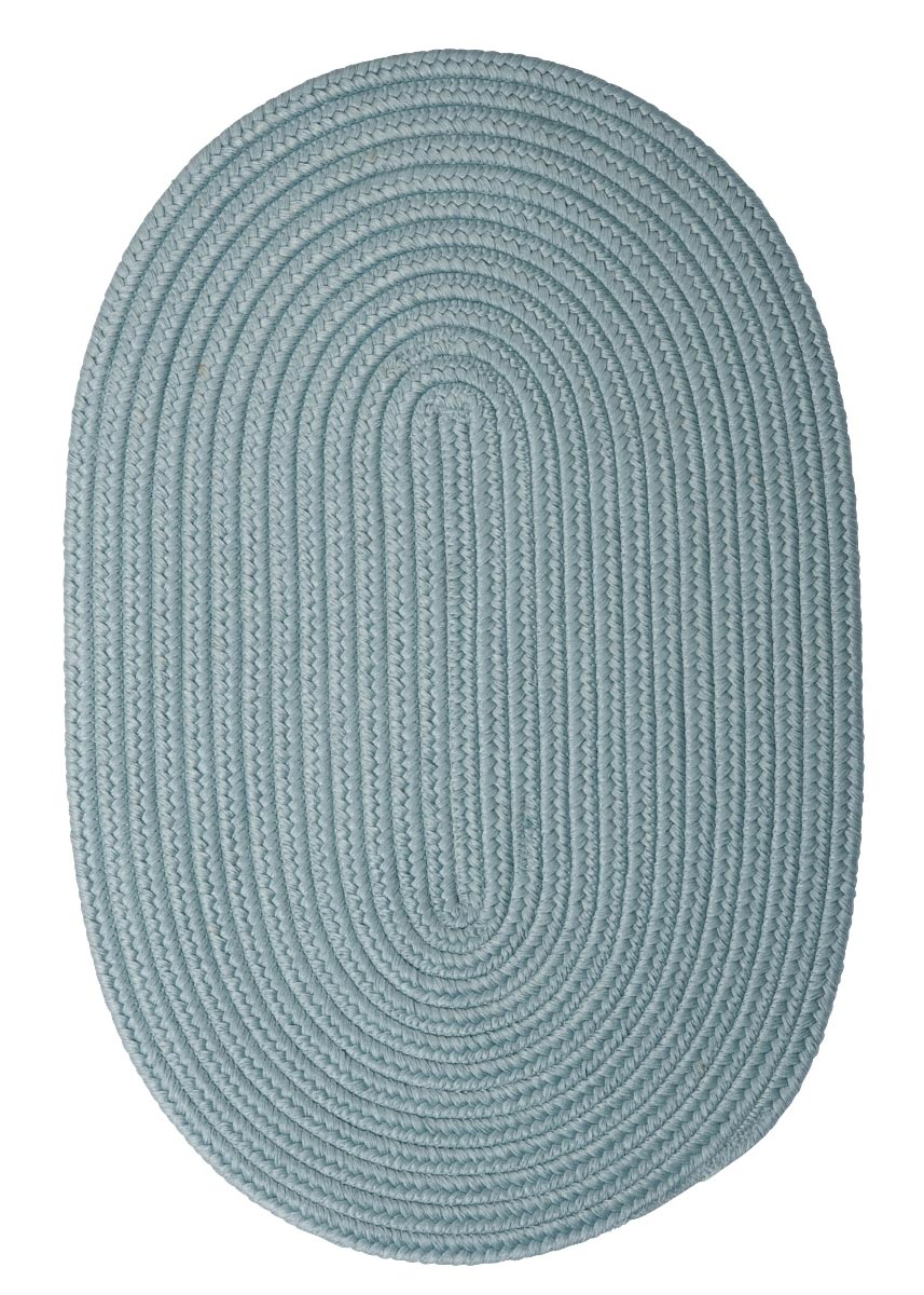 Boca Raton Federal Blue Outdoor Braided Oval Rugs