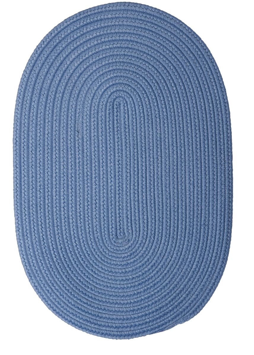 Boca Raton Blue Ice Outdoor Braided Oval Rugs