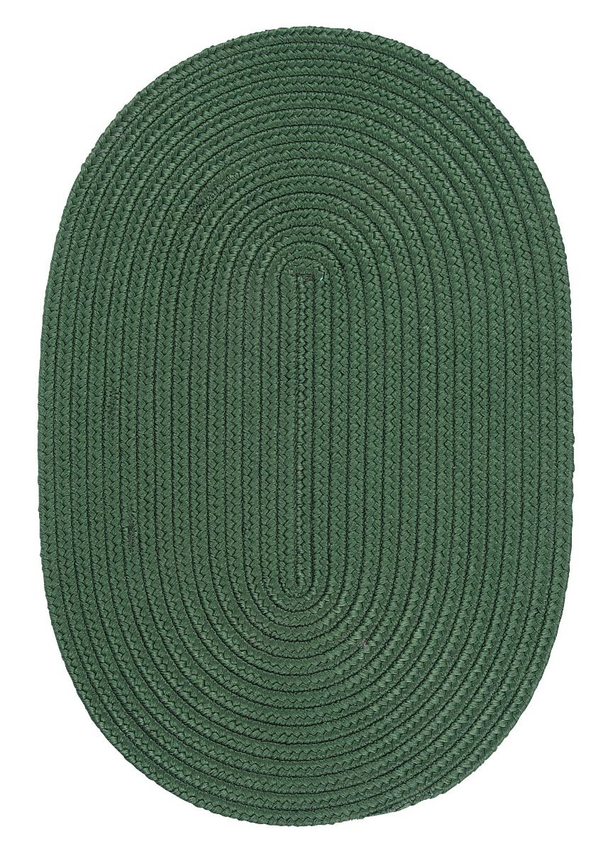 Boca Raton Myrtle Green Outdoor Braided Oval Rugs
