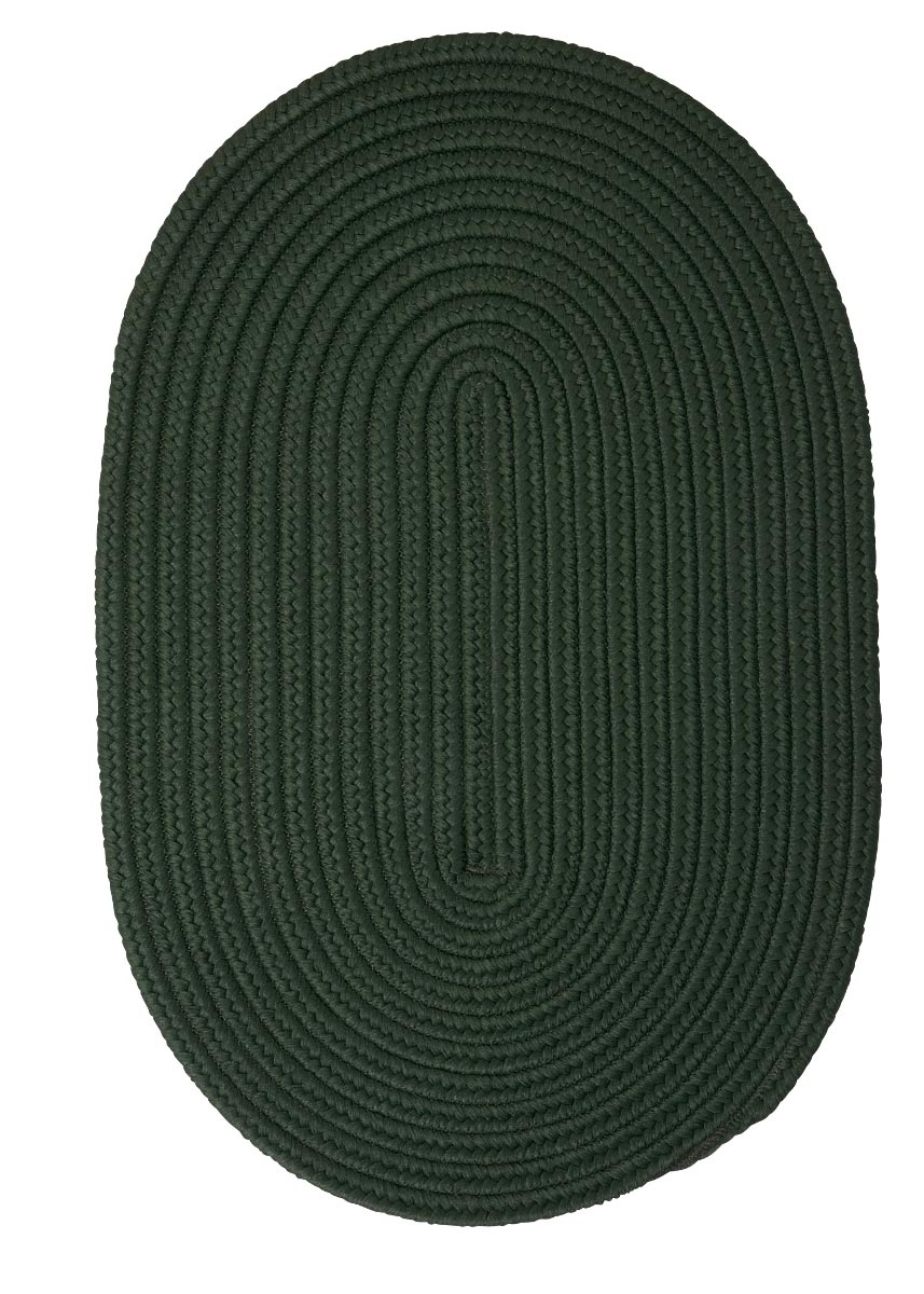 Boca Raton Dark Green Outdoor Braided Oval Rugs