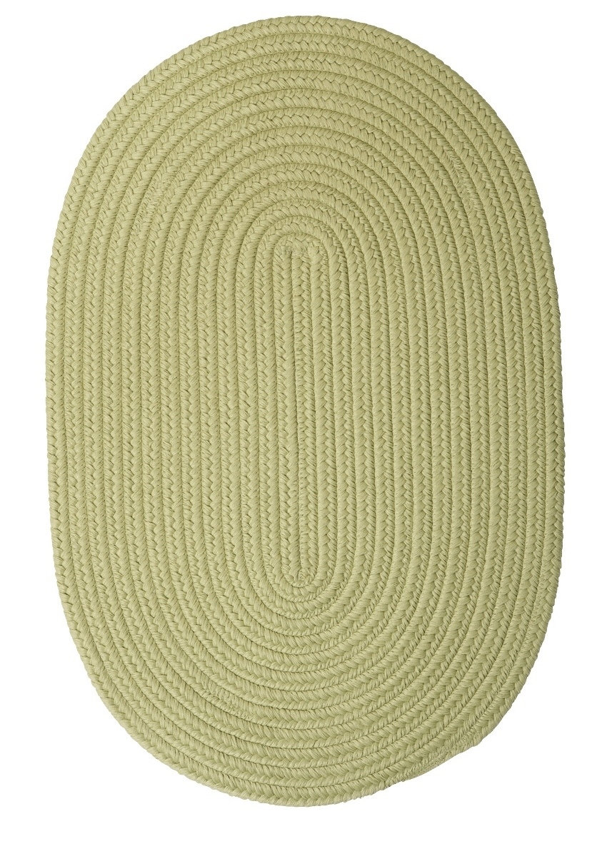 Boca Raton Celery Outdoor Braided Oval Rugs