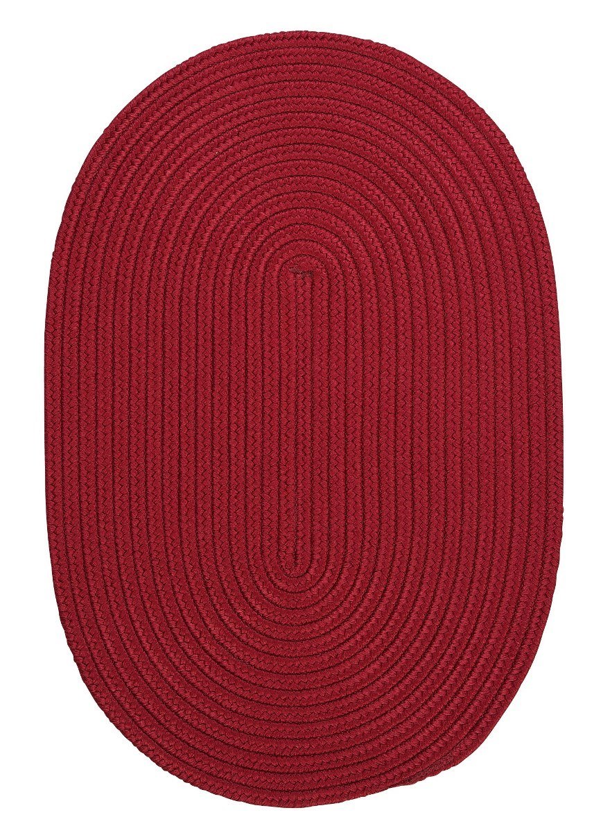 Boca Raton Sangria Outdoor Braided Oval Rugs
