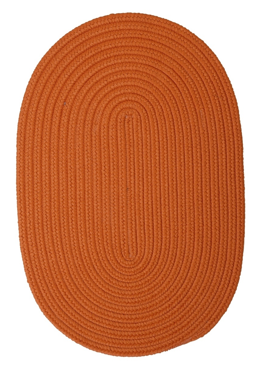 Boca Raton Rust Outdoor Braided Oval Rugs