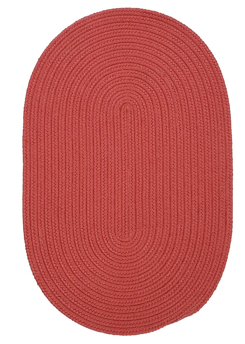 Boca Raton Terracotta Outdoor Braided Oval Rugs