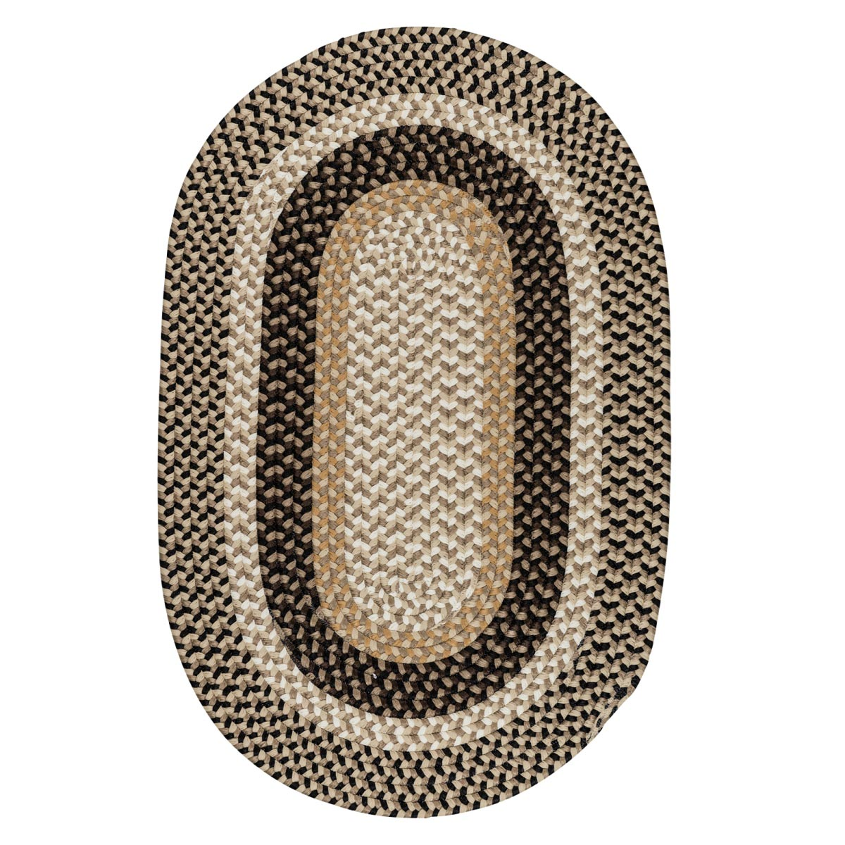 Burmingham Neutral Tone Outdoor Braided Oval Rugs