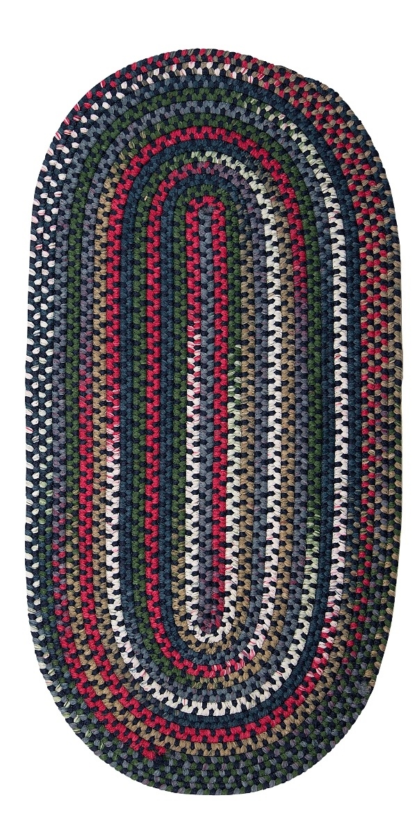Chestnut Knoll Baltic Blue Outdoor Braided Oval Rugs