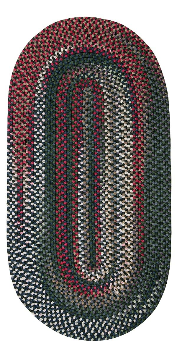 Chestnut Knoll Thyme Green Outdoor Braided Oval Rugs