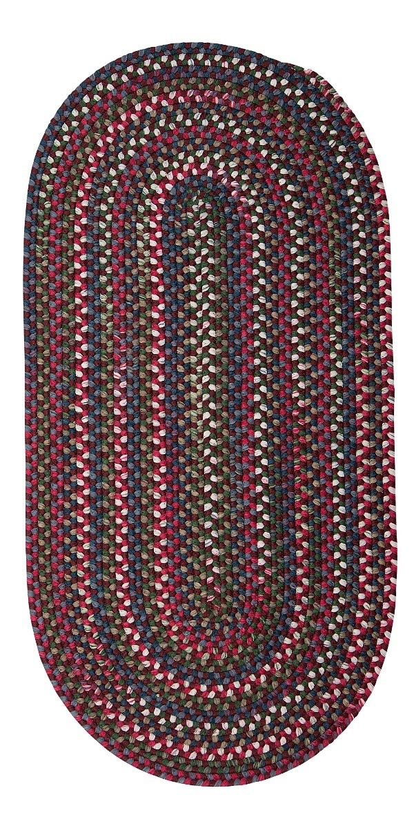Chestnut Knoll Amber Rose Outdoor Braided Oval Rugs