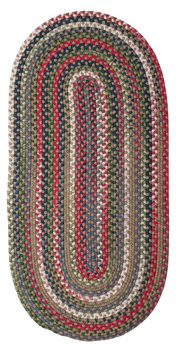 Chestnut Knoll Straw Beige Outdoor Braided Oval Rugs