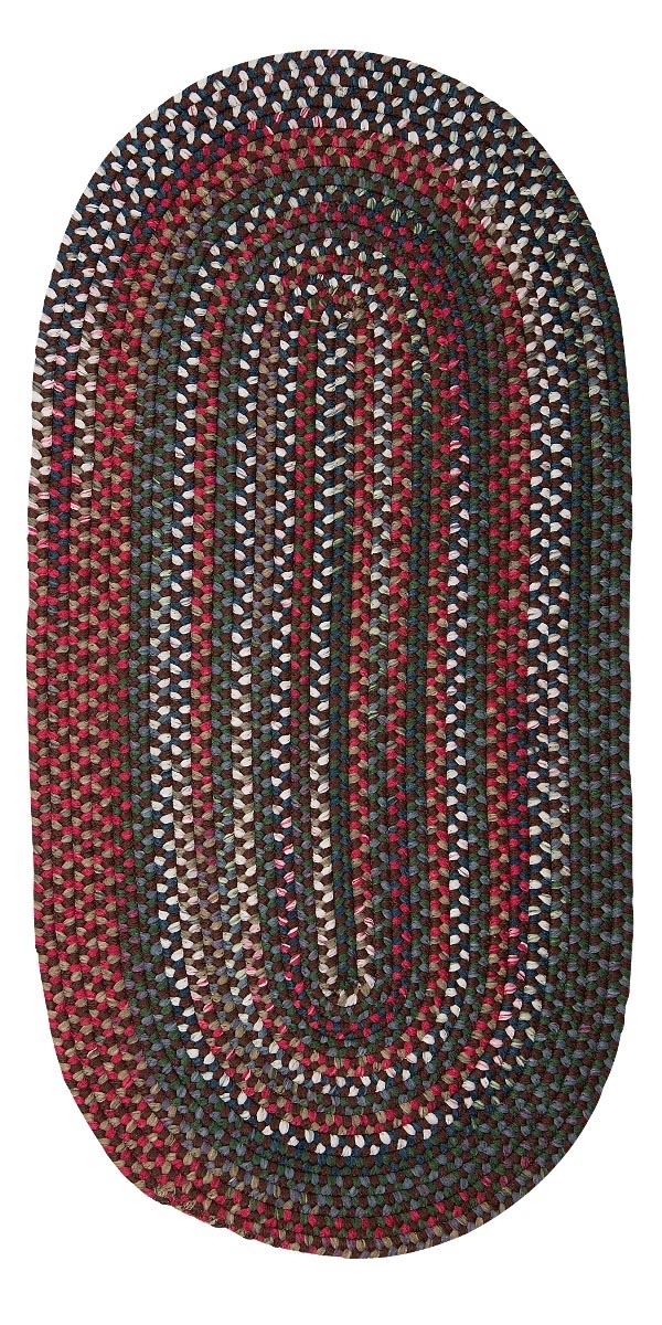 Chestnut Knoll Saddle Brown Outdoor Braided Oval Rugs
