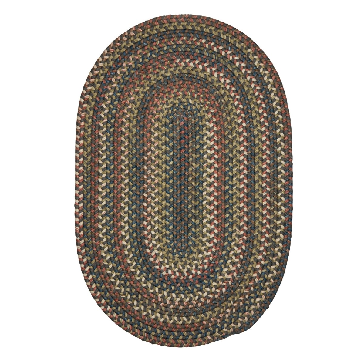Cedar Cove Gray Outdoor Braided Oval Rugs