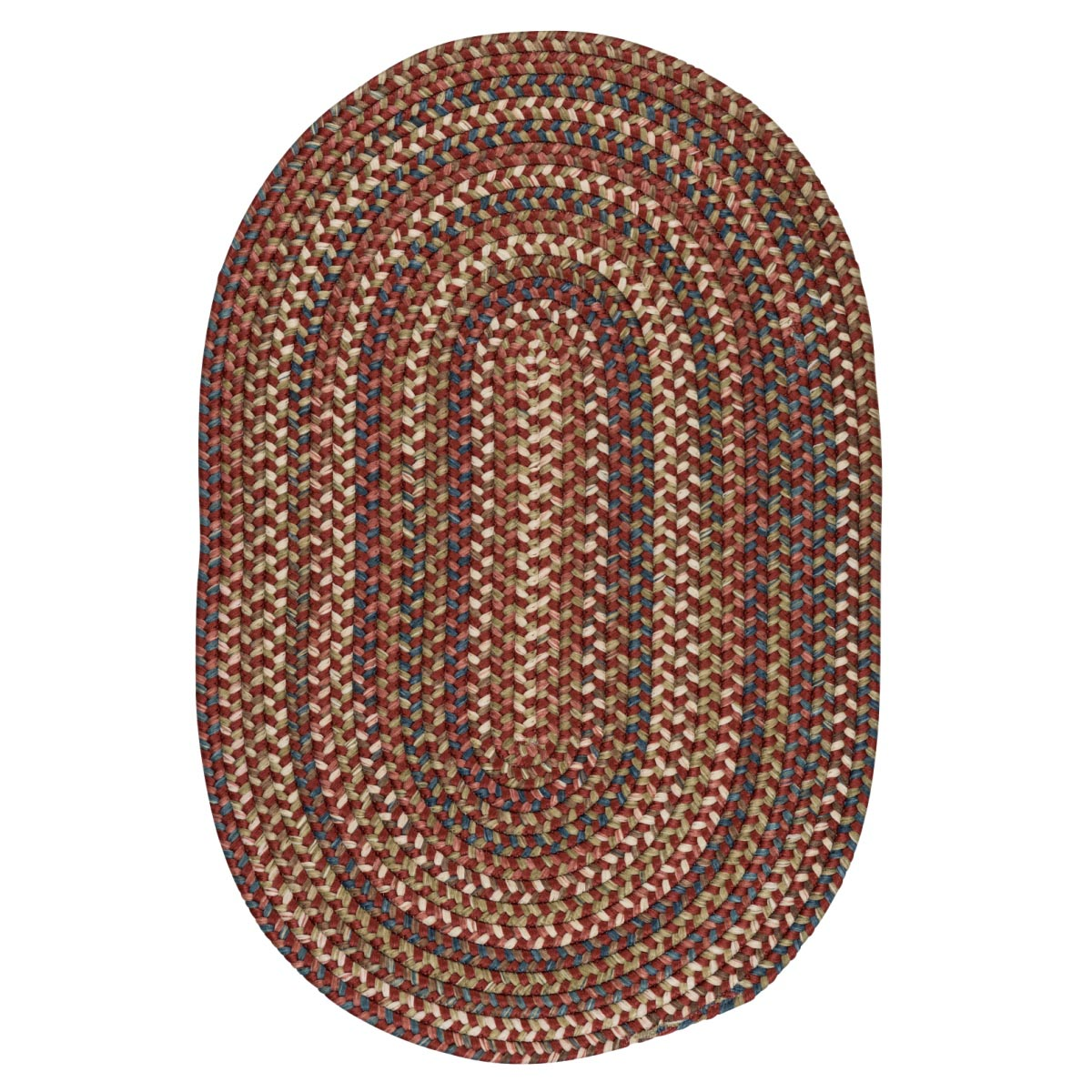 Cedar Cove Rust Outdoor Braided Oval Rugs