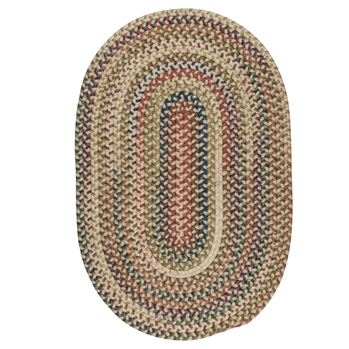 Cedar Cove Natural Outdoor Braided Oval Rugs