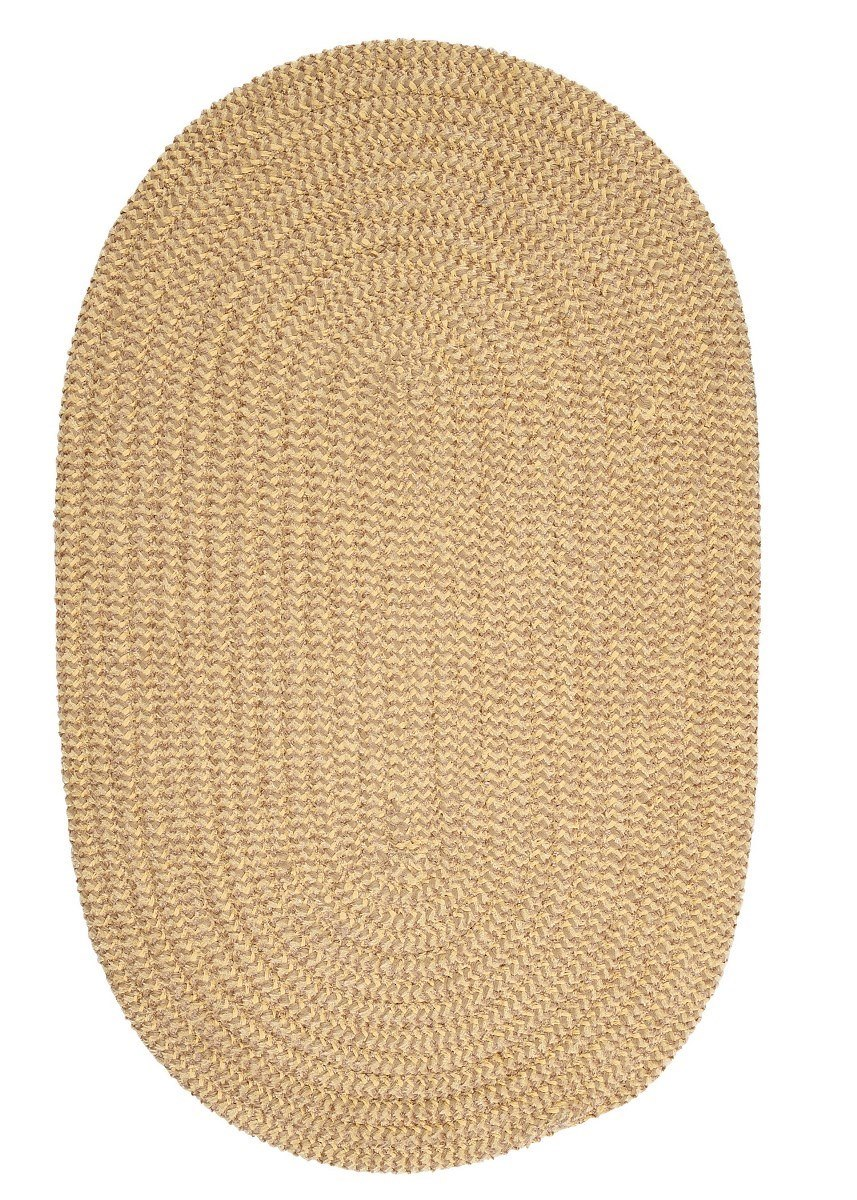 Softex Check Pale Banana Check Outdoor Braided Oval Rugs