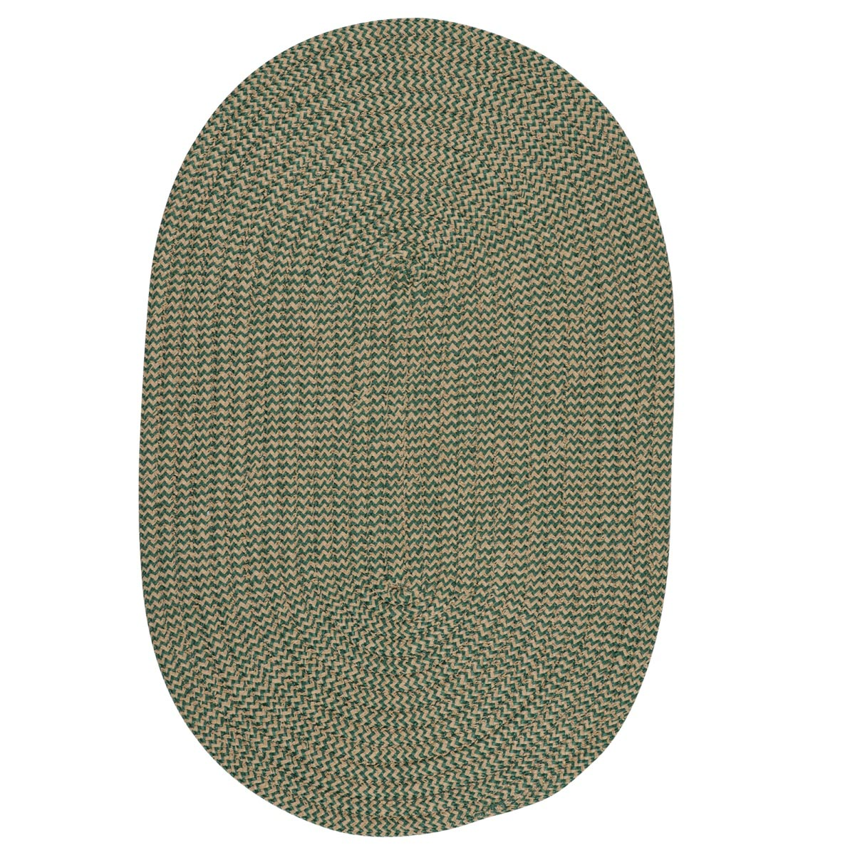 Softex Check Myrtle Green Check Outdoor Braided Oval Rugs