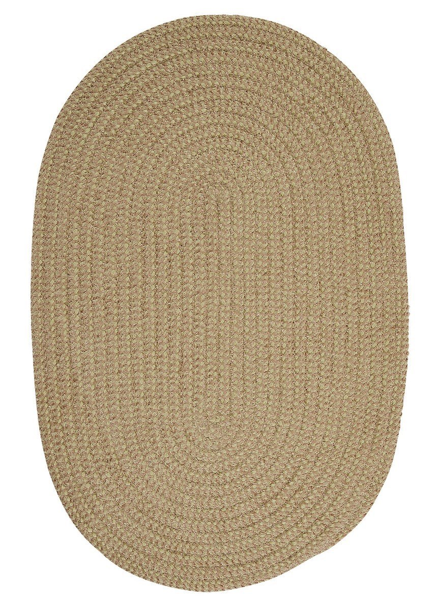 Softex Check Celery Check Outdoor Braided Oval Rugs