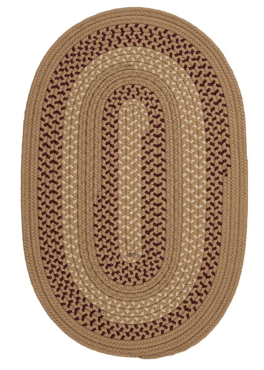 Deerfield Taupe Outdoor Braided Oval Rugs