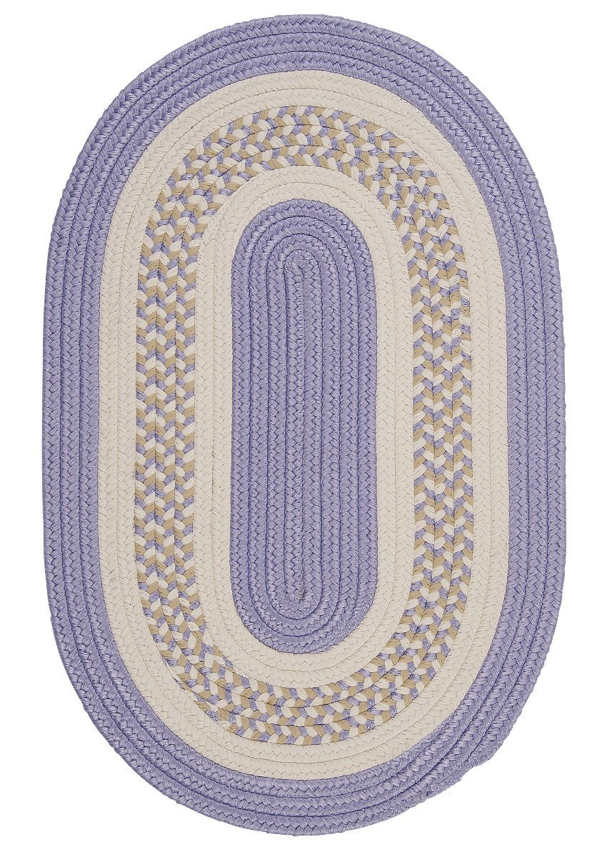 Flowers Bay Amethyst Outdoor Braided Oval Rugs