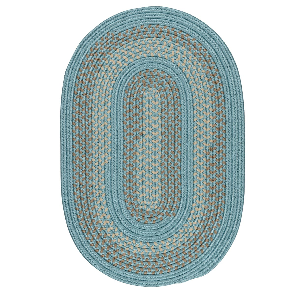 Georgetown Federal Blue Outdoor Braided Oval Rugs
