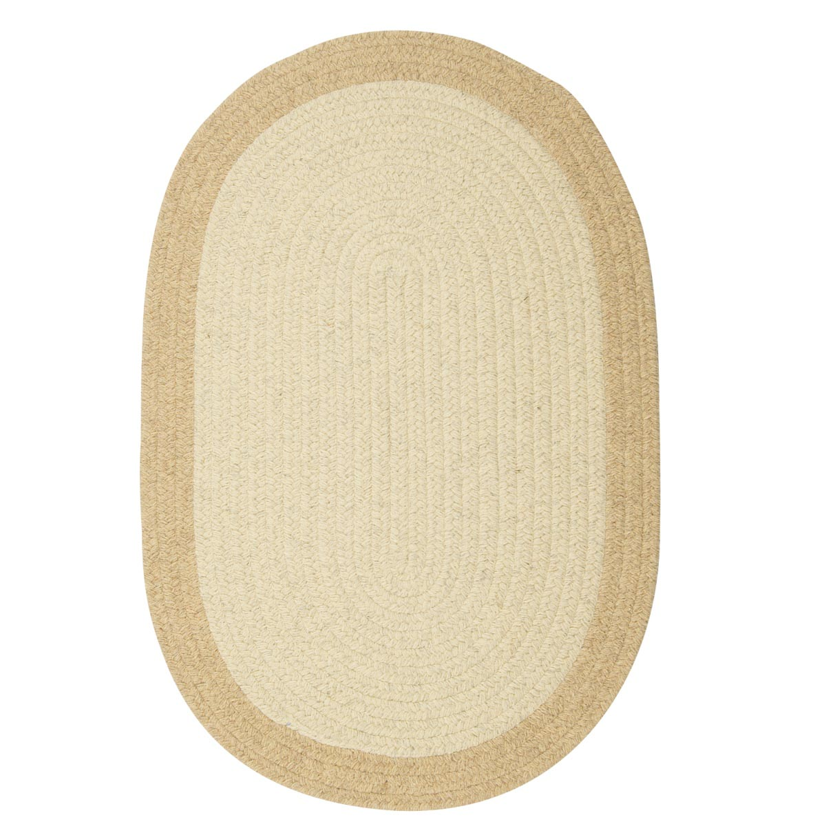 Hudson Natural Wool Braided Oval Rugs