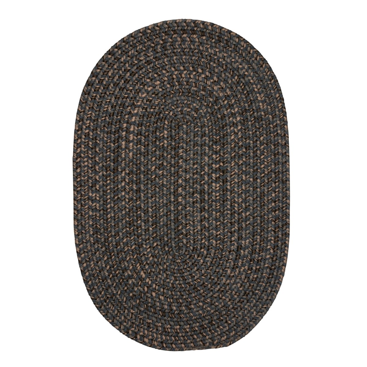 Hayward Charcoal Outdoor Braided Oval Rugs