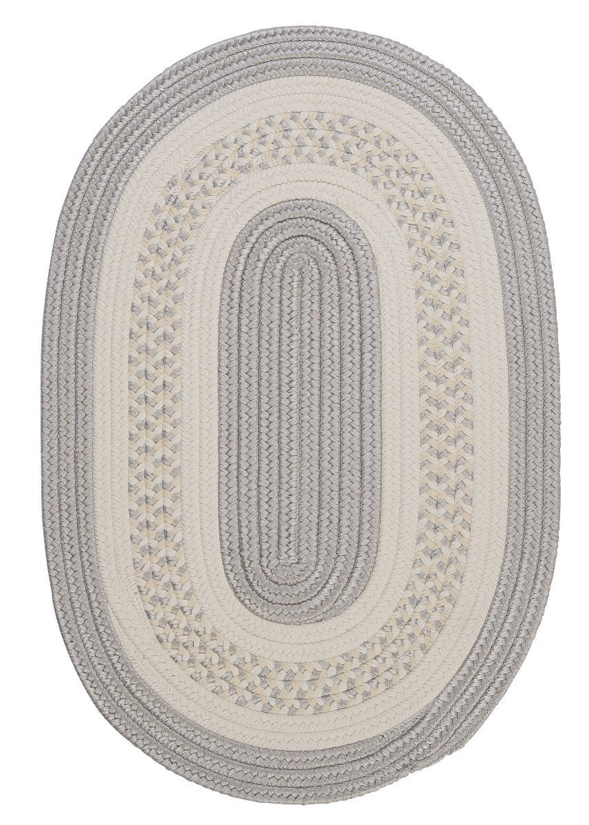 Crescent Silver Outdoor Braided Oval Rugs