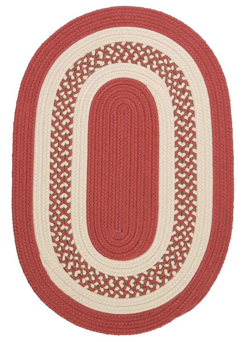 Crescent Terracotta Outdoor Braided Oval Rugs