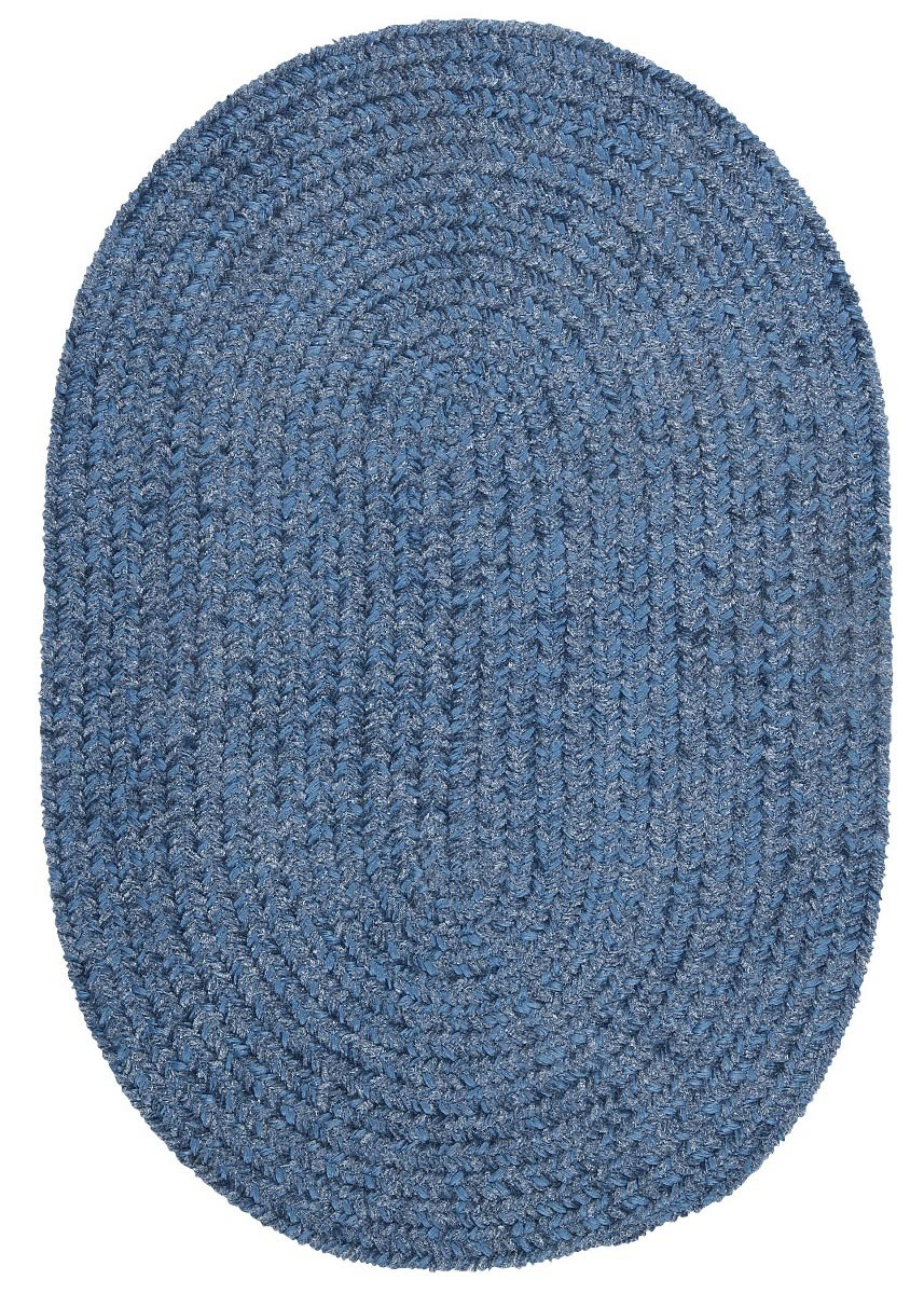 Spring Meadow Petal Blue Outdoor Braided Oval Rugs