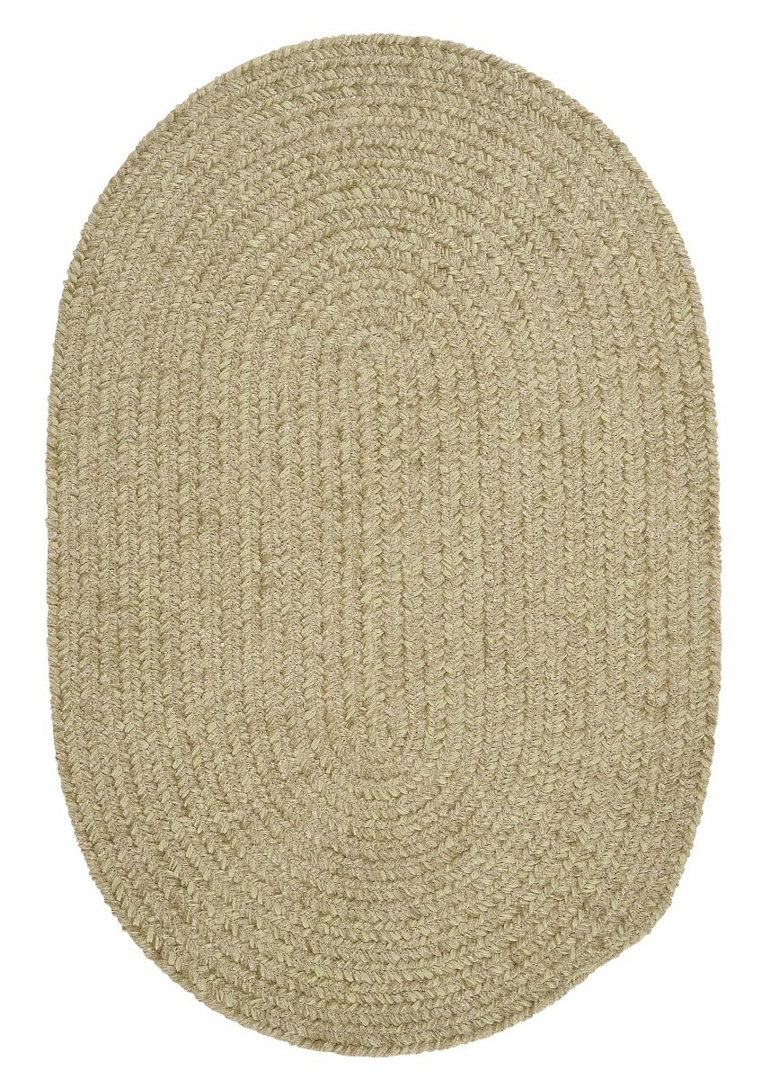 Spring Meadow Sprout Green Outdoor Braided Oval Rugs