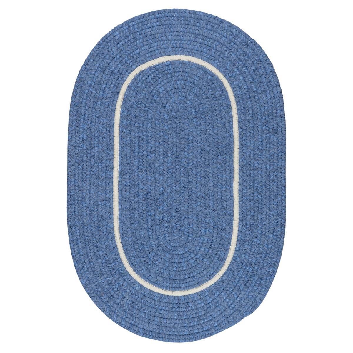 Silhouette Blue Ice Outdoor Braided Oval Rugs