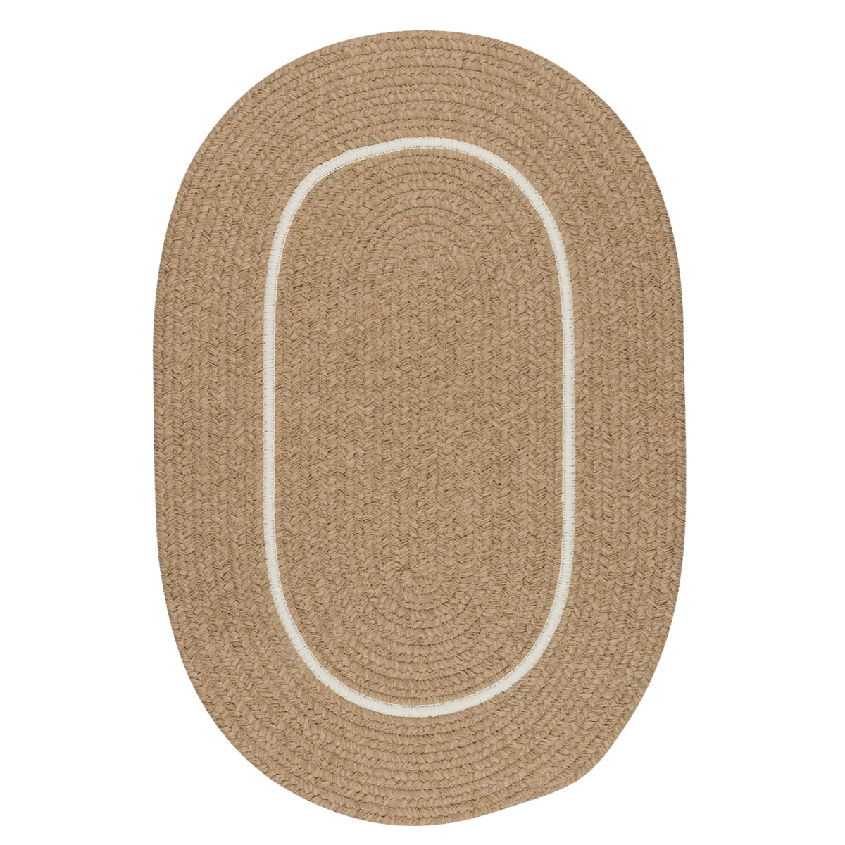 Silhouette Sand Outdoor Braided Oval Rugs