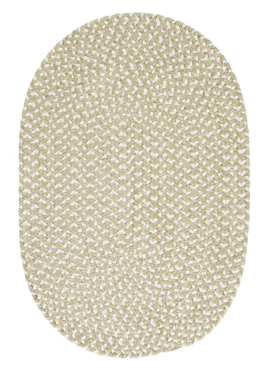 Confetti Green Outdoor Braided Oval Rugs