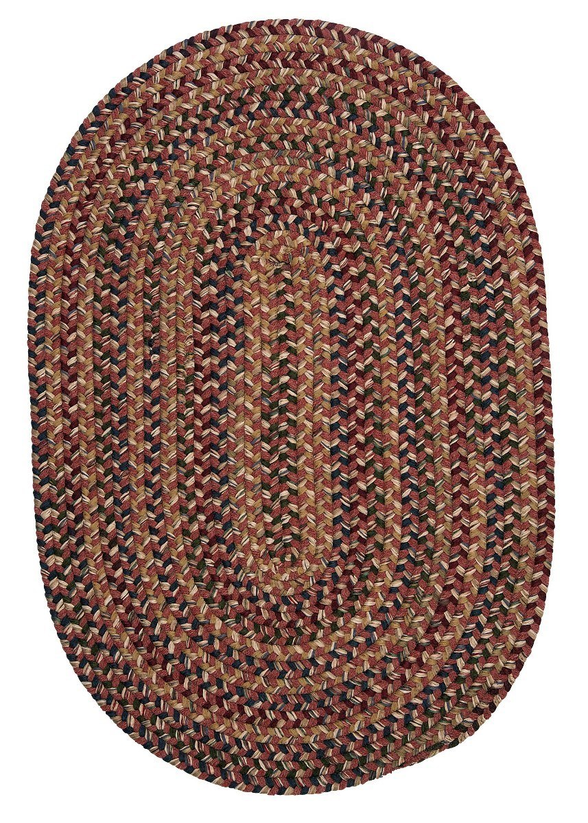 Twilight Rosewood Outdoor Braided Oval Rugs