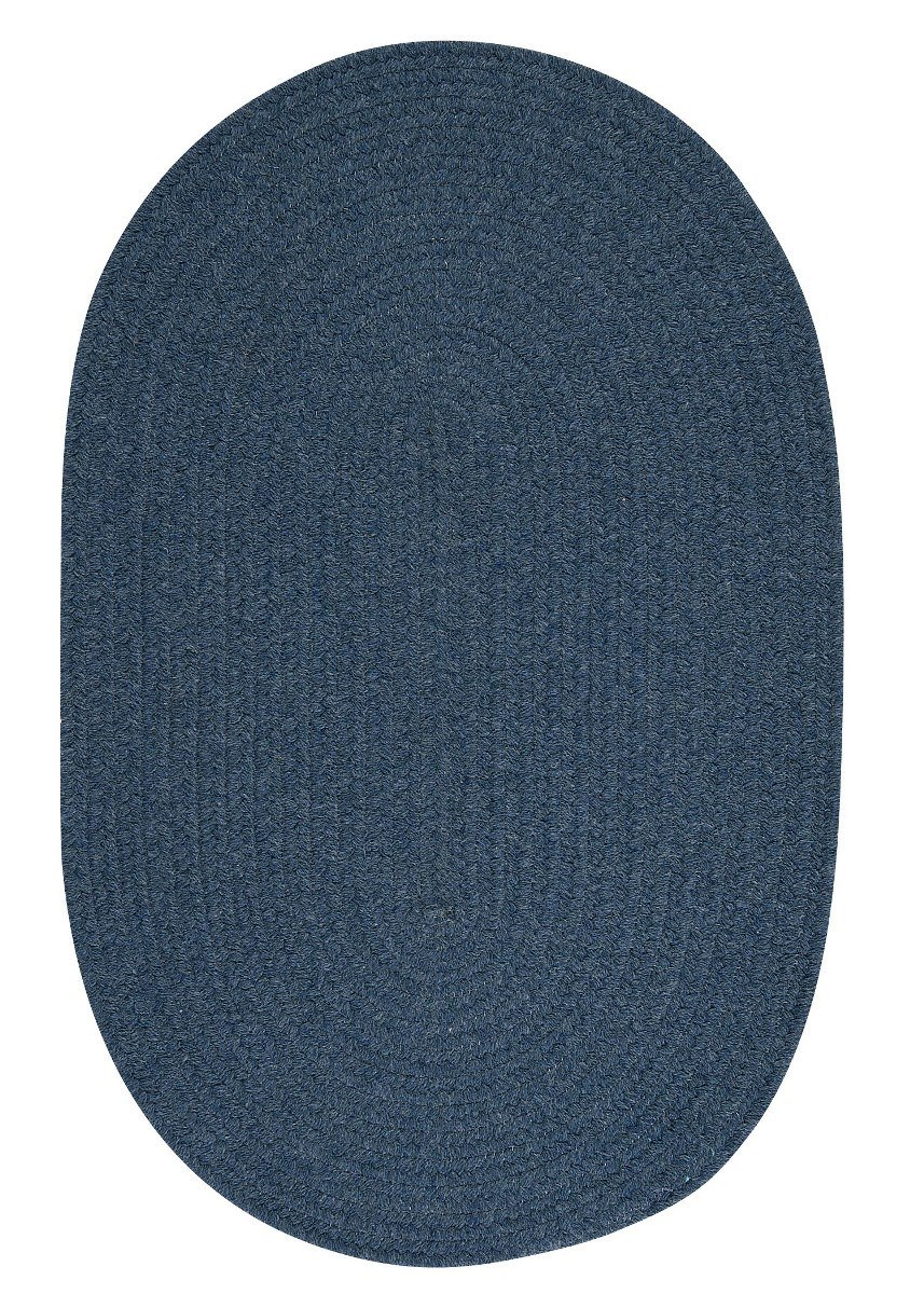 Bristol Federal Blue Outdoor Braided Oval Rugs