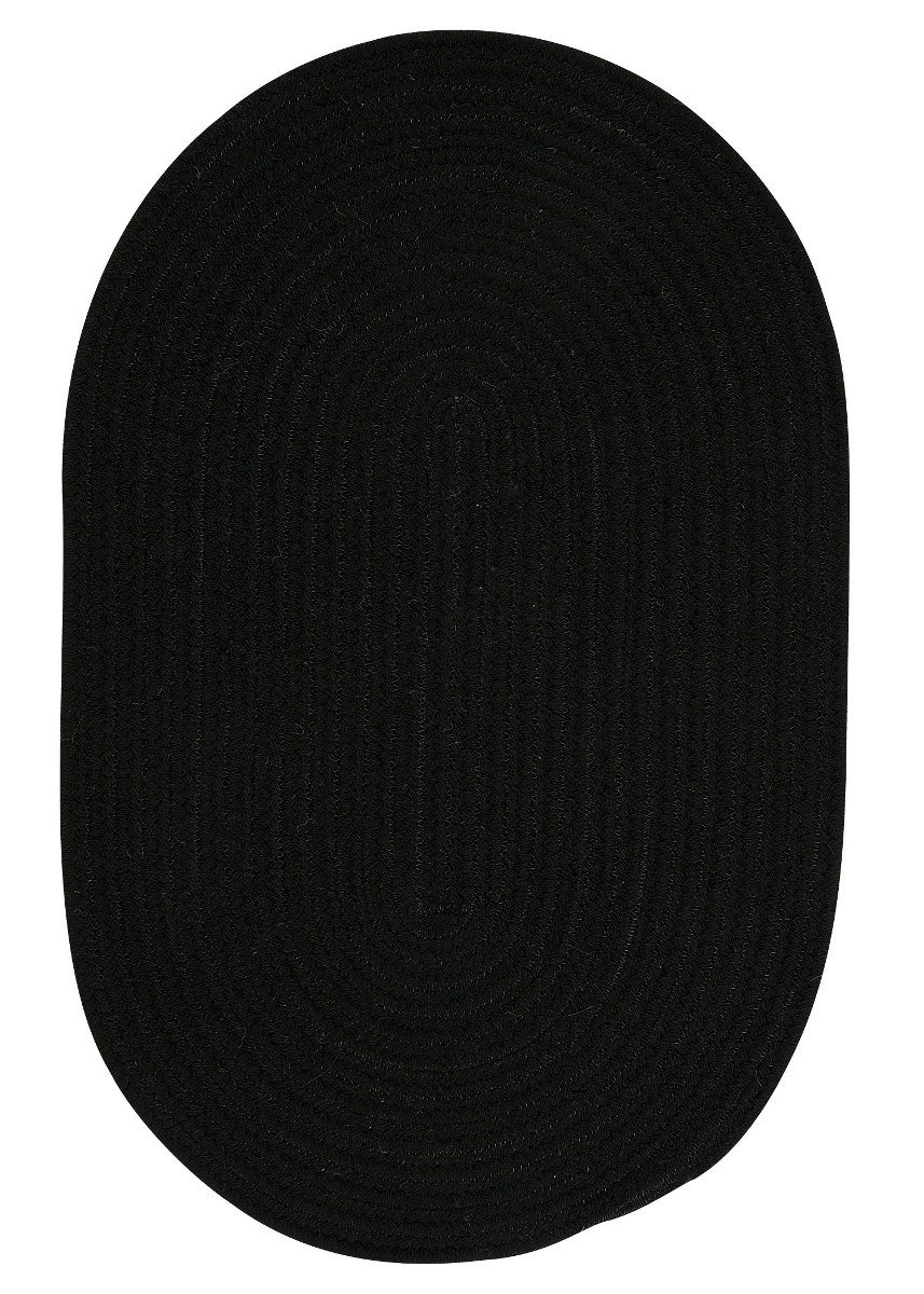 Bristol Black Outdoor Braided Oval Rugs