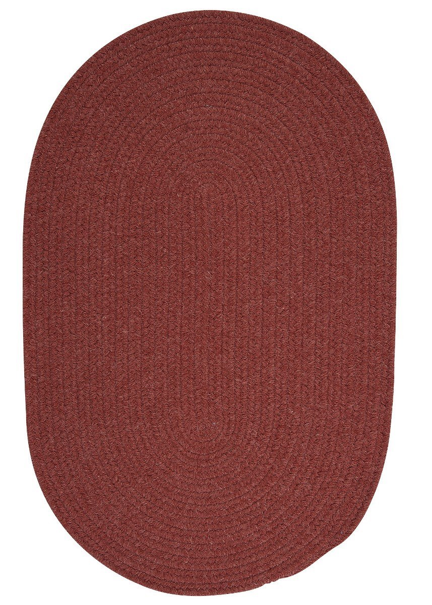 Bristol Rosewood Outdoor Braided Oval Rugs