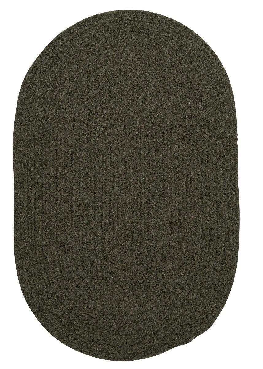 Bristol Olive Outdoor Braided Oval Rugs
