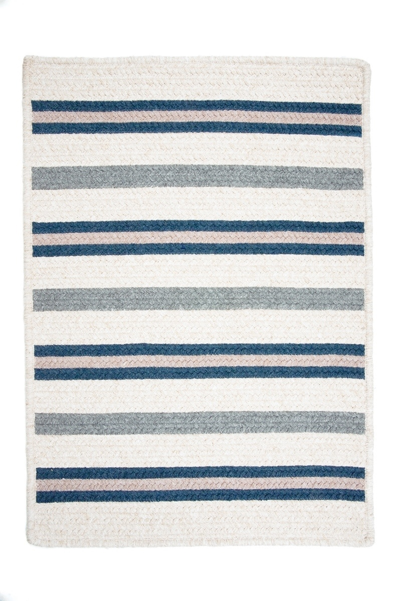 Allure Polo Blue Outdoor Braided Rectangular Rugs